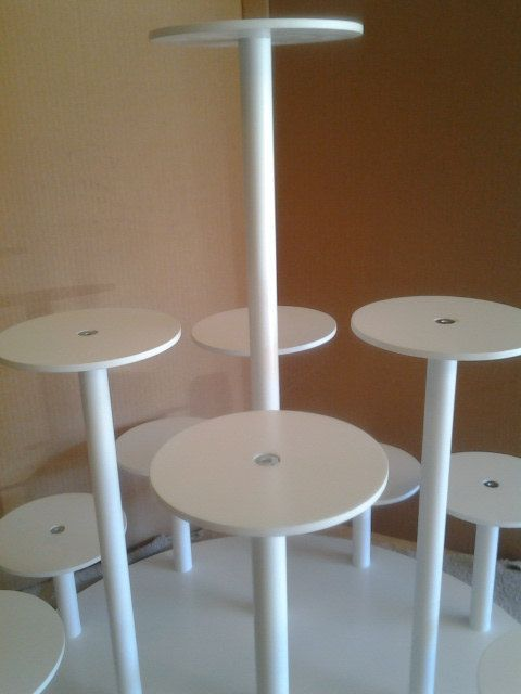 Custom Made Cake Stand for Individual Cakes. by MikesAmazingStands