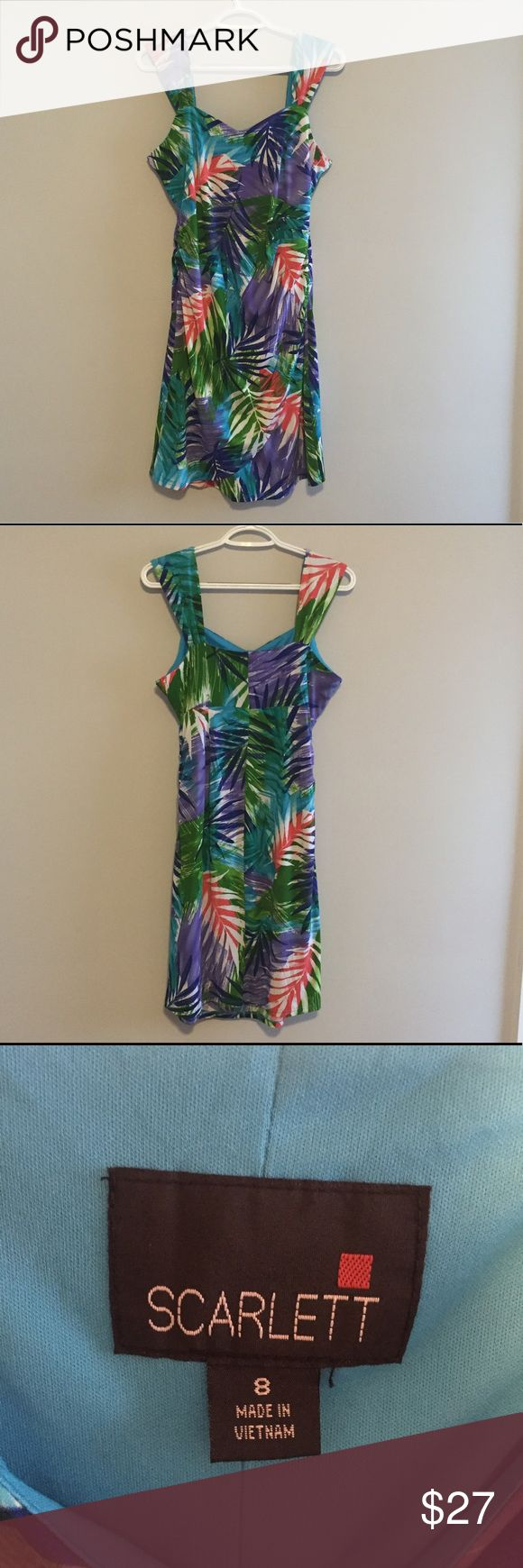 Scarlett Summer Dress Sz 8 Like New Cute colorful dress. Size 8 but is dress, so can fit a size up or down. Reasonable offers are always considered ✔️😄 Scarlett Dresses