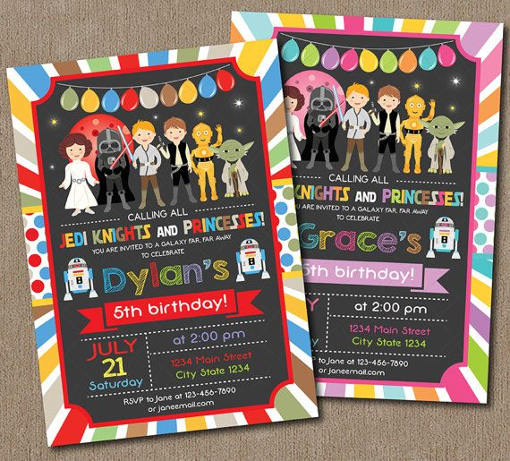 Star Wars Birthday Invitation Star Wars Invite by PixeleenDesigns