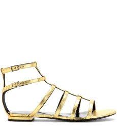 Saint Laurent - Metallic leather sandals - mytheresa.com