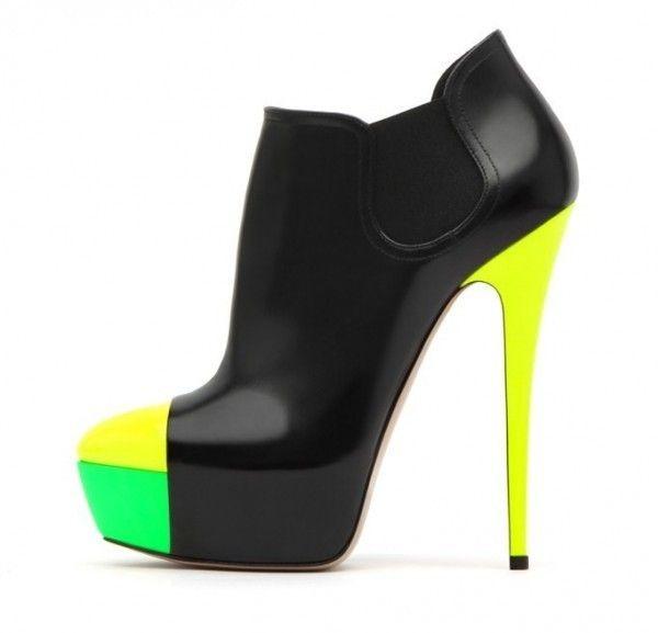 Scarpe #Casadei, ankle boot bicolor