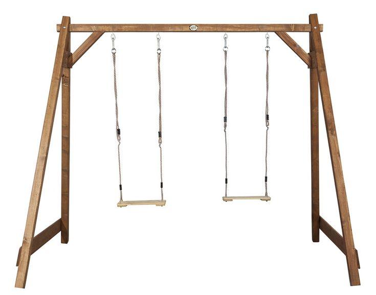 Holz-Kinder-Schaukel Axi Doppelschaukel Schaukel aus Holz - Schöne Kinderschaukel - hier hat ihr Kind garantiert Spass