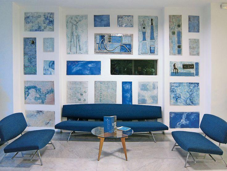 Gio Ponti's lobby for the Parco dei Principi Hotel in Sorrento, Italy, designed in 1961. Sam Grawe