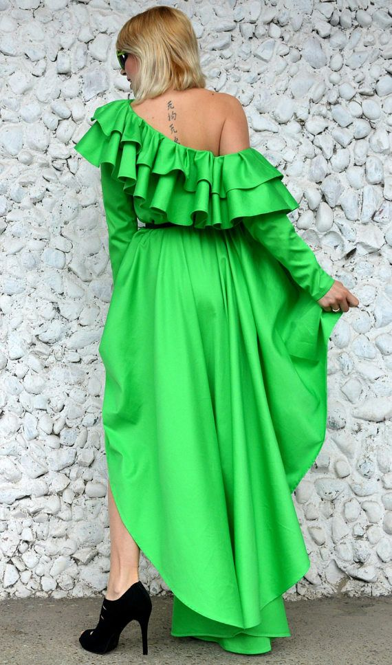 Off Shoulder Maxi Dress Flounced Dress with Cropped Lap and https://www.etsy.com/listing/521030773/off-shoulder-maxi-dress-flounced-dress?utm_campaign=crowdfire&utm_content=crowdfire&utm_medium=social&utm_source=pinterest