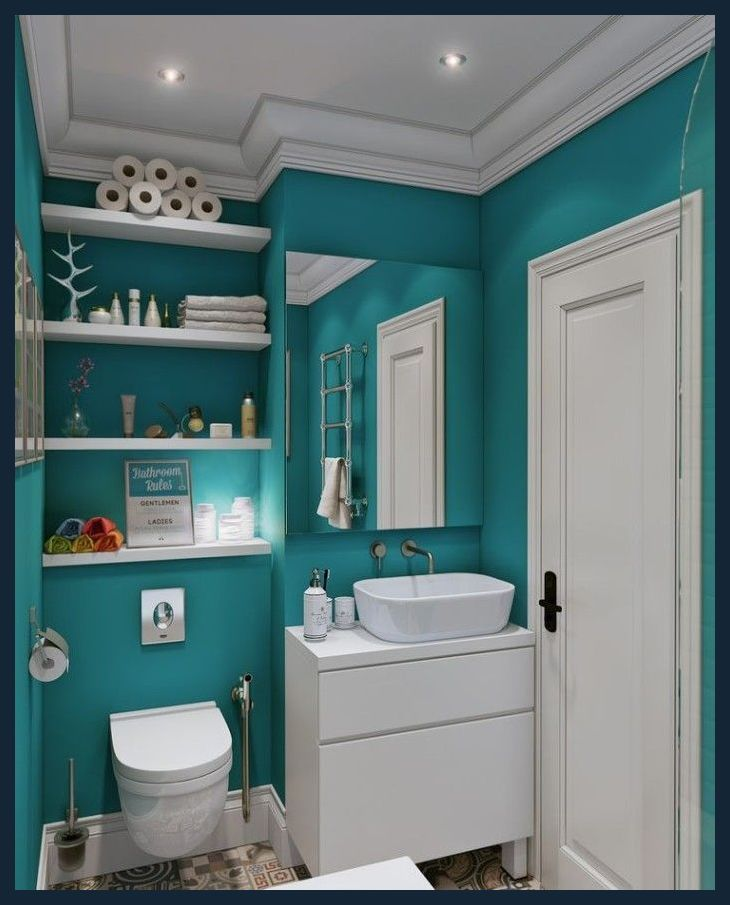Bathroom Paint Colors Ideas For Bathroom Decor In 2020 Teal Bathroom Paint Teal Bathroom Teal Bathroom Decor
