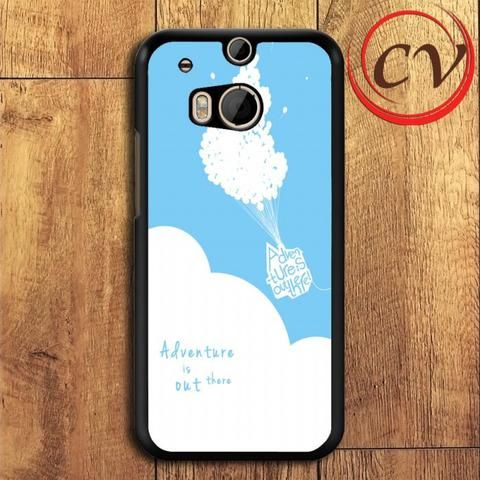 Adventure Is Out There Balloon HTC One M8 Mini Black Case