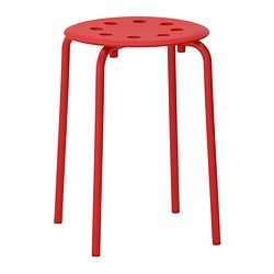 IKEA - MARIUS, Stool, The stool can be stacked, so you can keep several on hand and store them in the same space as one.