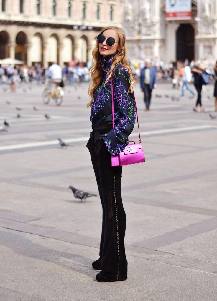 Silk velvet trousers by Izabela Mandoiu