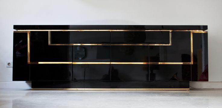 sideboard schwarz matt mobili. Black Bedroom Furniture Sets. Home Design Ideas