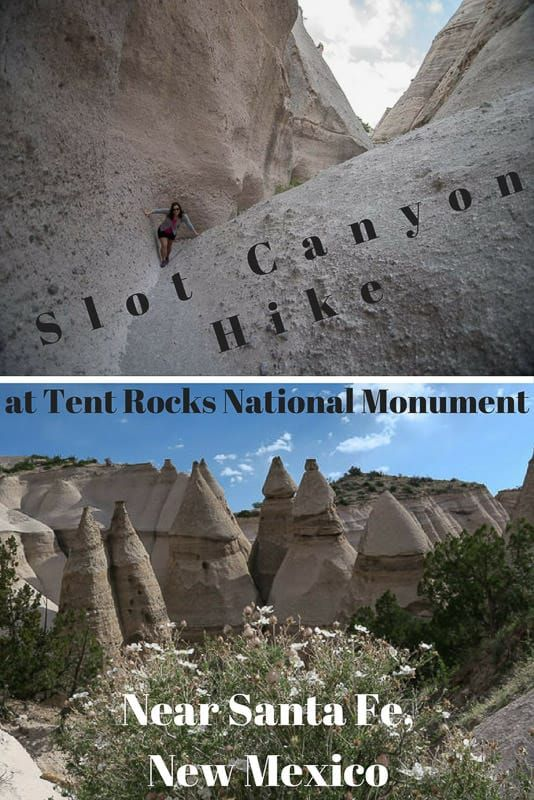 """Planning a trip to New Mexico? The slot canyon hike at  Kashu-Katuwe Tent Rocks National Monument exemplifies everything great about the """"land of enchantment"""": Surprising beauty, unique history & unlimited inspiration! via @trailingaway"""