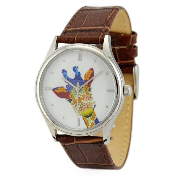 Hey, I found this really awesome Etsy listing at http://www.etsy.com/listing/158487165/giraffe-watch-colorful