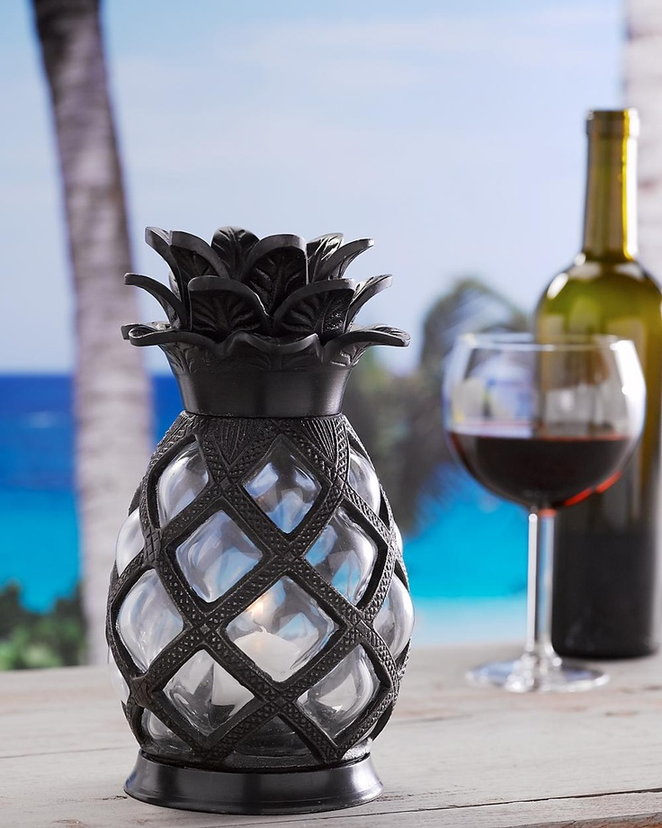 Glass Pineapple Votive Holder