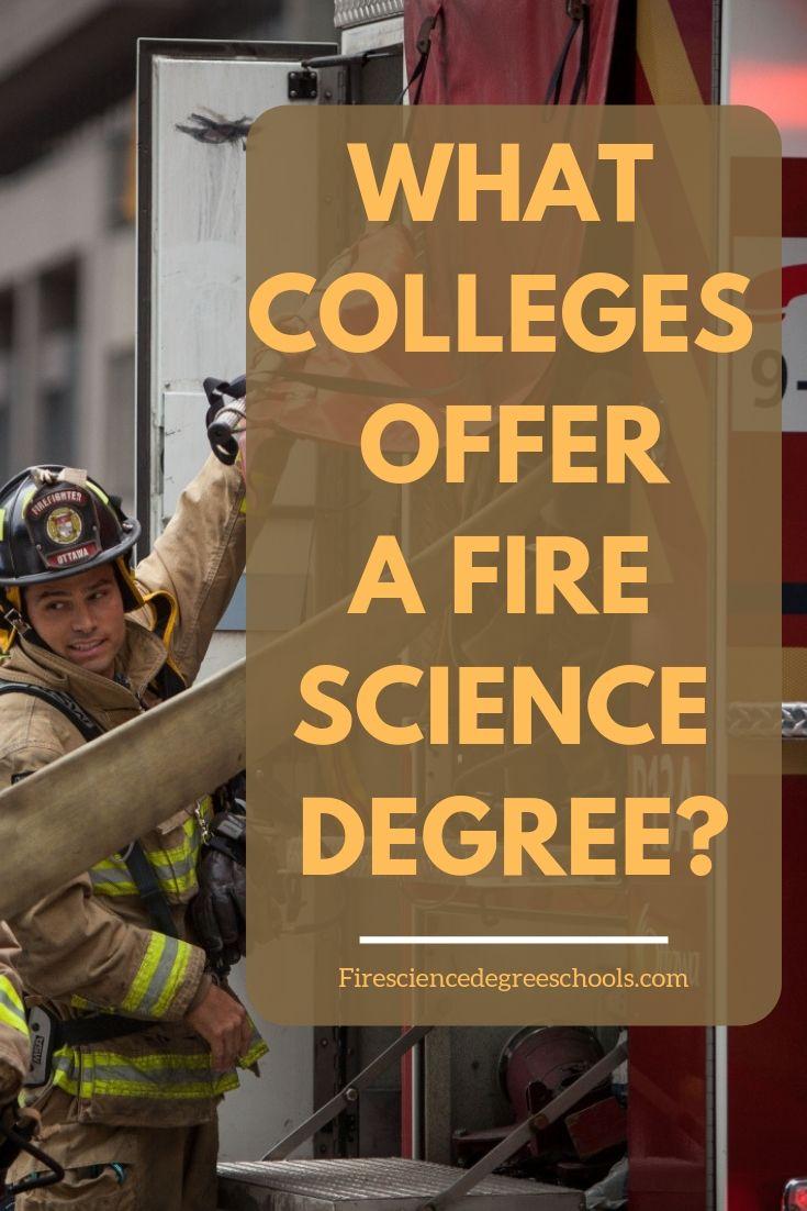Fire science degree online