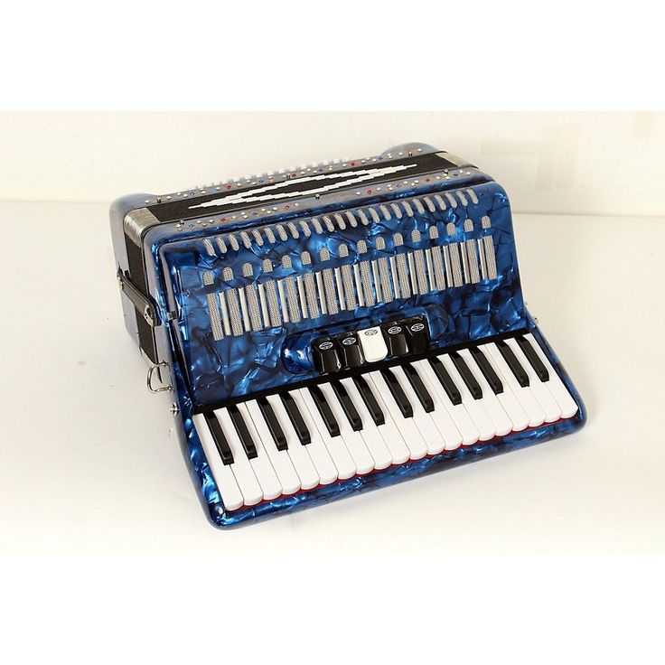 SofiaMari SM 3472 34 Piano 72 Bass Button Accordion Dark Blue Pearl 888366009062