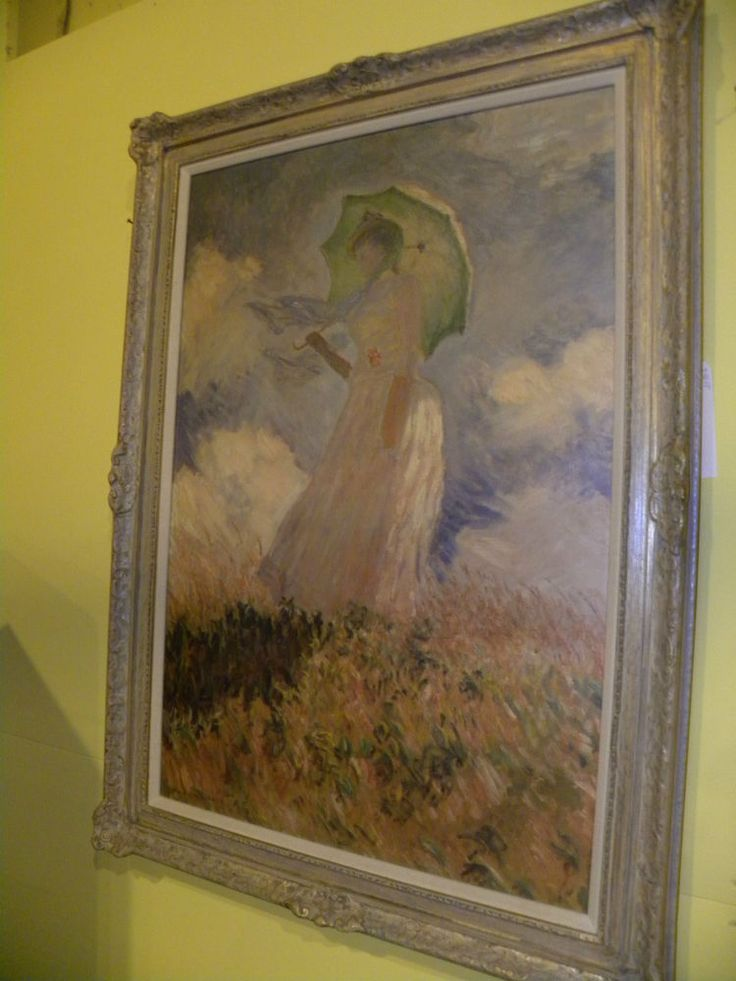 Large artagraph framed reproduction monet oil painting for Framed reproduction oil paintings