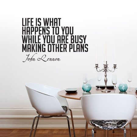Wall decal  Life is what happens to you... by DiMariaDenmark, kr399.00
