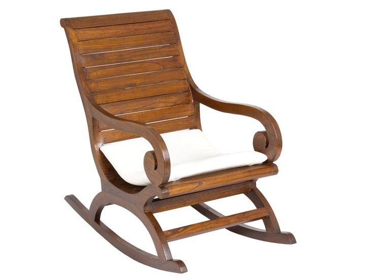 silla mecedora de madera estilo colonial