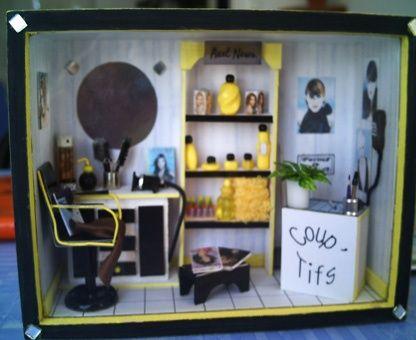 1000 images about miniature salon tutorials on pinterest - Vitrine salon de coiffure ...
