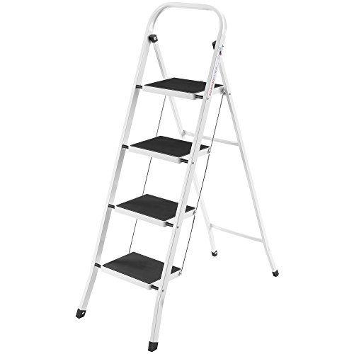 VonHaus Steel Folding Portable 4 Step Ladder with 330lbs Capacity #VonHaus #Steel #Folding #Portable #Step #Ladder #with #Capacity