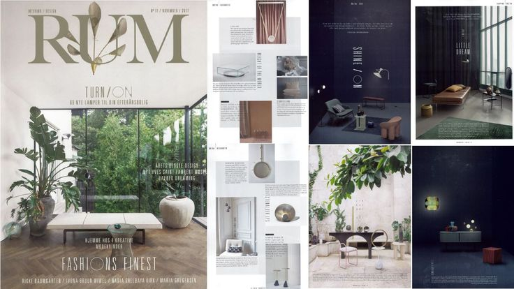 Danish magazine RUM showing a collection of beautiful AYTMs! November 2017 edition.