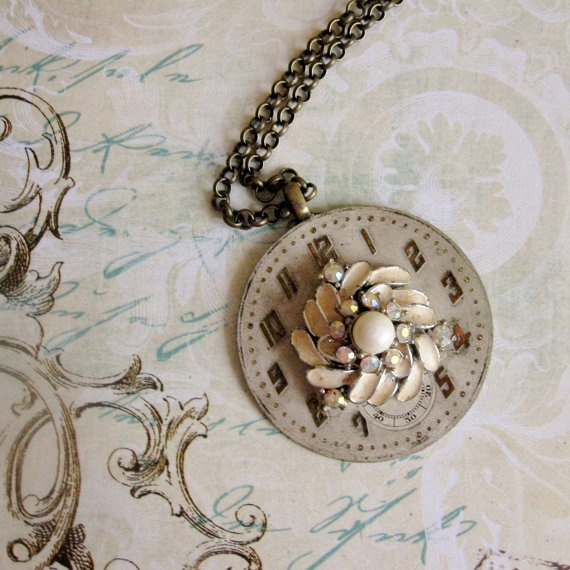 72 best steampunk watch faces only images on pinterest jewelry clock necklace old gossip watch face costume by maddielisee 2900 aloadofball Choice Image