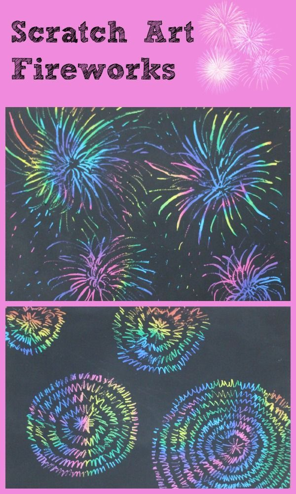 scratch art fireworks a great kids craft activity for guy fawkes or 4th July celebrations