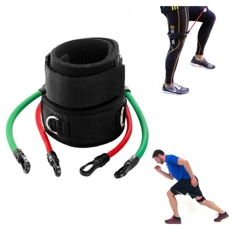 Leg Straps Speed Strength Training Resistance Trainer Kinetic Tube Bands Workout Fitness Baseball Football Kick Punch Taekwondo