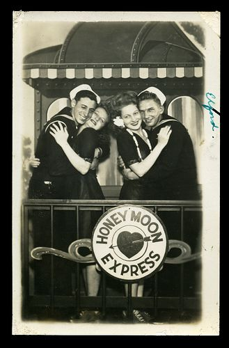 1940s World War 2 Sailors Smiling With Beautiful Men Handsome Masculine Military Navy Caboose by Christian Montone,
