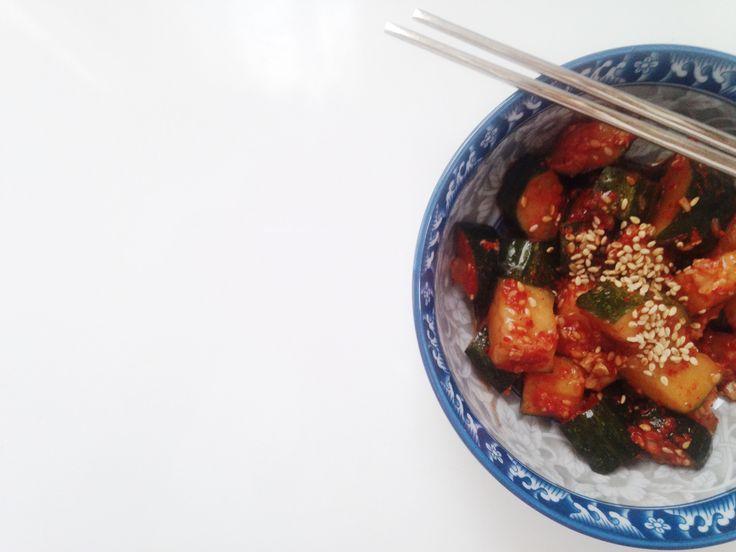 kimchi de pepino (오이 김치)