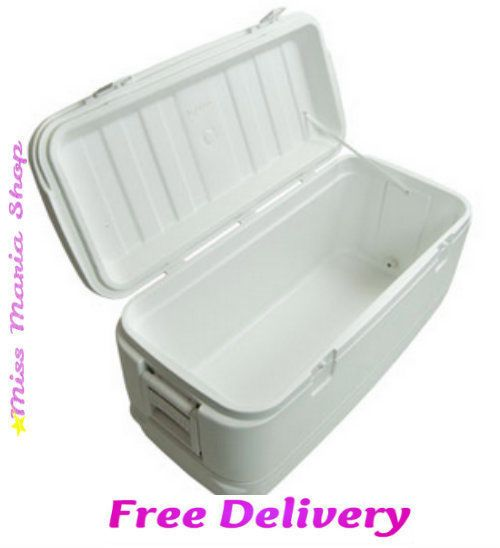 Cooler Large Igloo Cool Box Ice Chest 5 Days Portable Fridge 114 Ltr Camping Out