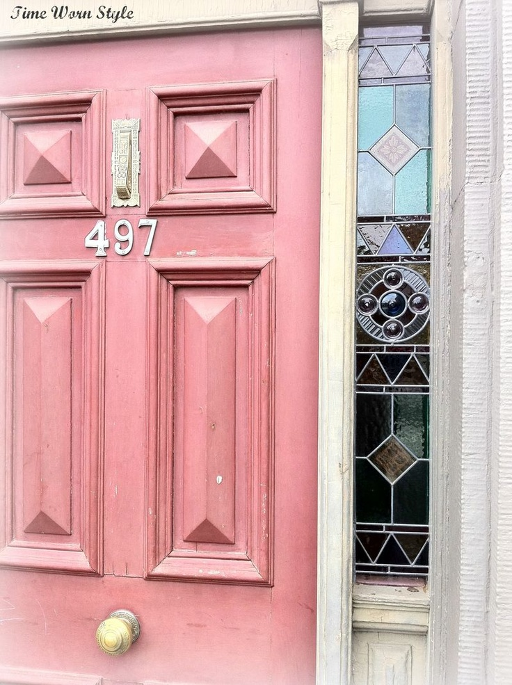 Pink door with leadlight panels...: Pink House