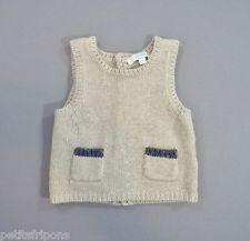 Pull sans manche tricot écru gris JACADI 3 mois (60cm) garçons