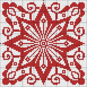Chart for cross stitch or filet crochet.