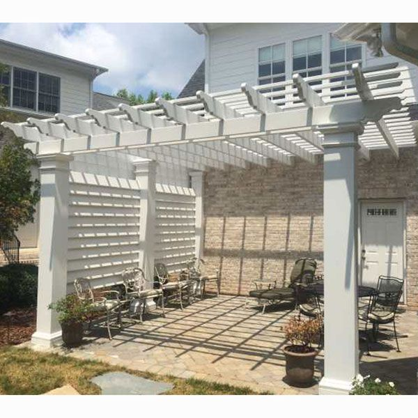 8' Privacy Screen for 12' x 12' Pergola (Use with Model #'s HB920001 &  HB920101)   Models, Yards and Privacy screens - 8' Privacy Screen For 12' X 12' Pergola (Use With Model #'s