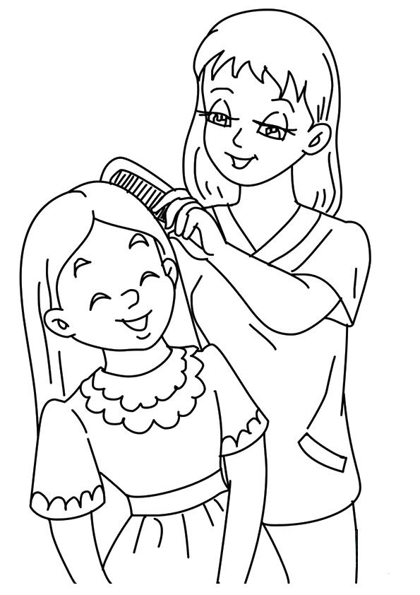 Print Coloring Image Mothers Day Coloring Pages Free Printable