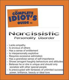 Narcissist.