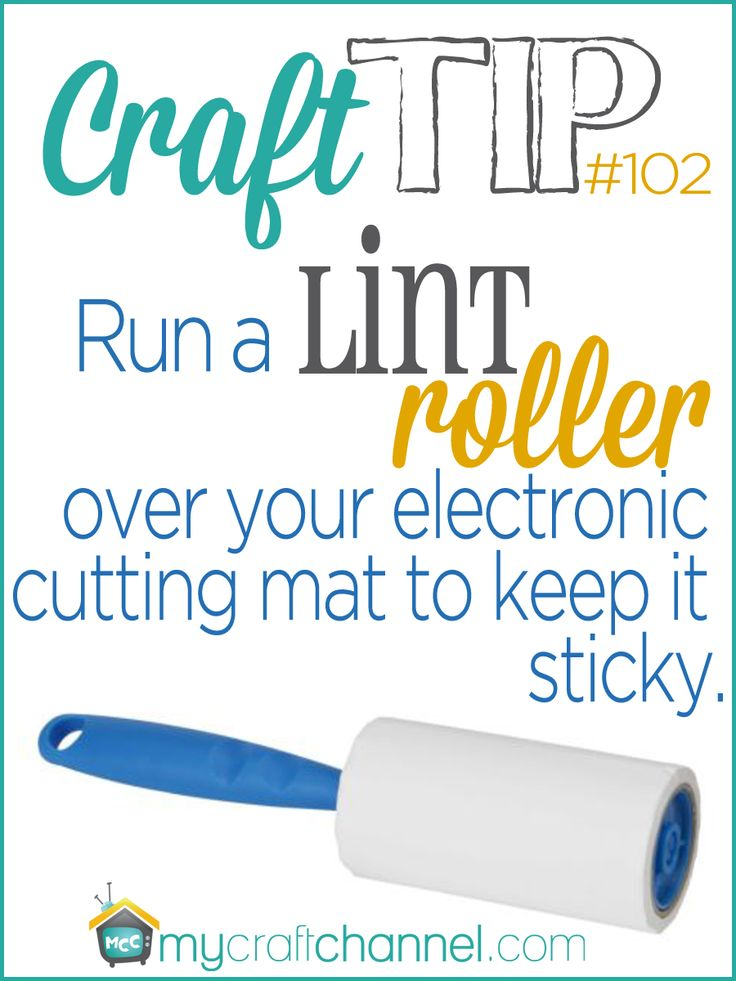 Craft Tips: How to Make Craft Mat Sticky Again -  Watch Jonie Sumsion as she shares her quick craft tip on how to make your electronic cutting mats sticky again by simply cleaning them off with a sticky lint roller. For more inspiring ideas from Jonie visit her blog at http://just-between-friends.com