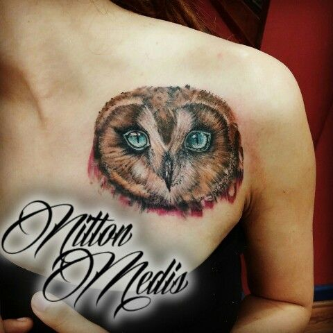 Owl tattoo by Nilton Medis @nilton_medis