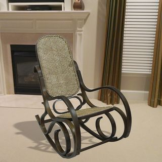 Alexandria Chestnut Finish Bentwood Rocker   Overstock™ Shopping   Great  Deals On Living Room Chairs
