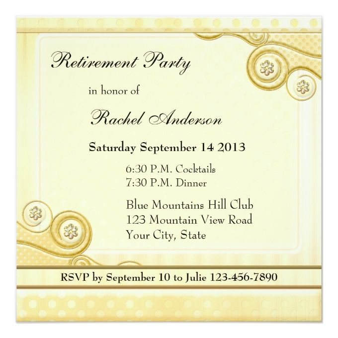 Elegant Retro Retirement Party Invitation  Retirement Parties