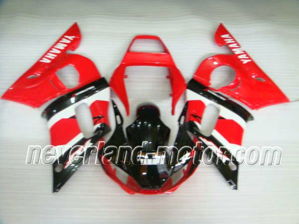 YAMAHA YZF-R6 1998-2002 ABS Carénage - Rouge/Noir #carenageyamahar6 #carenagemotoyamaha