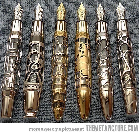 Pens  http://themetapicture.com/media/beautiful-pens-carved-designs.jpg