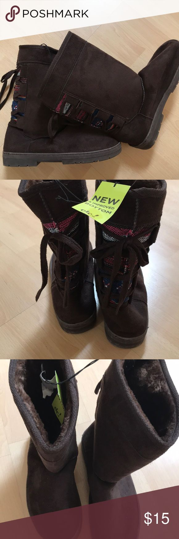 Warm boots New and super cozy. Size Large (like an 8) Rue 21 Shoes Winter & Rain Boots