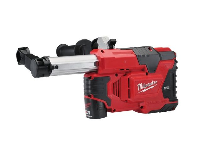 Milwaukee M12DE-151C 12v M12 Universal Hammer Drill Dust Extractor Kit 1 x 1.5Ah