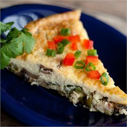 Asparagus Mushroom Bacon Crustless Quiche - This is a great basic quiche recipe that you can adapt to suit whatever you have on hand. I used italian sausage & asparagus & added italian seasonings & it was great.