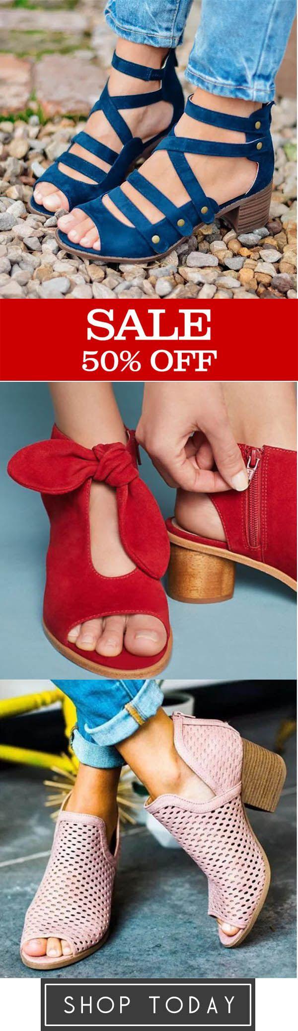 Spring Multi-Strap Heeled Sandals,Bow Peep Toe Hee…