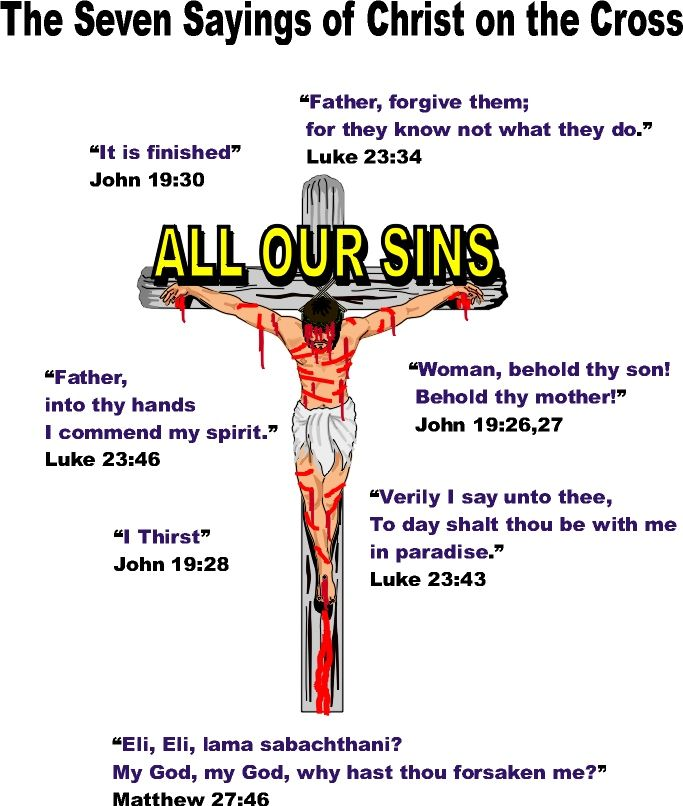 The Seven Sayings of Jesus Christ on the Cross. Las Siete Palabras.