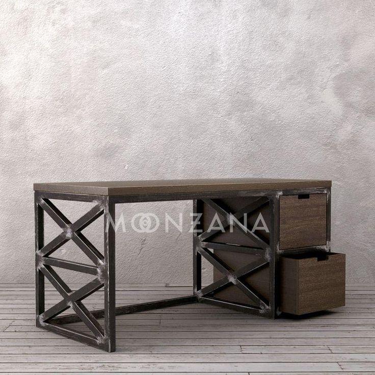 Рабочий стол в индустриальном стиле серии Бристоль
