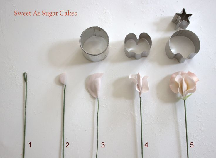 Gumpaste / Flower paste - Sweet pea tutorial - https://www.facebook.com/media/set/?set=a.665241970172093.1073741828.173529346010027=1