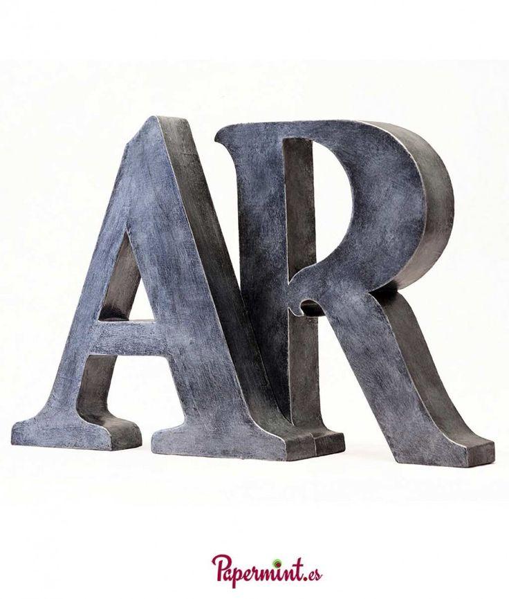 letras decorativas con aspecto metalizado desde 35 euros tamaos hasta 90cm de altura - Letras Decorativas